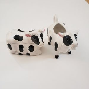 Cow cream sugar set